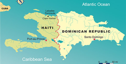 Map Of Haiti And The Dominican Republic